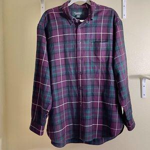 Brooks Bros Country Club ButtonDown Plaid Shirt XL